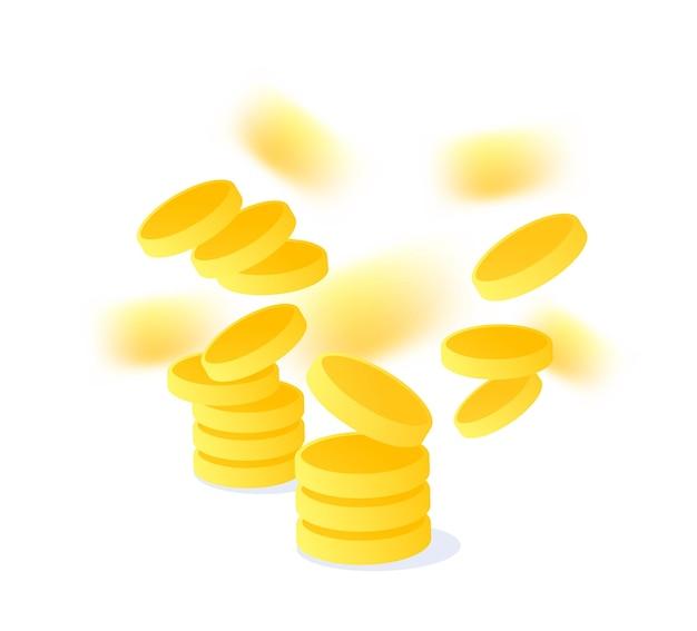 Creatieve illustratie met gouden muntvlieg