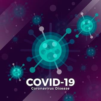 Creatieve illustratie van coronavirus concept