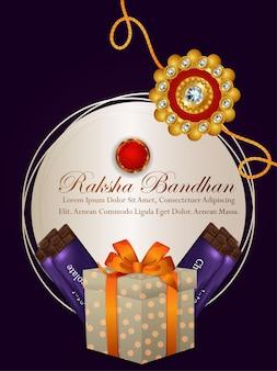 Creatieve illustratie van de gelukkige achtergrond van de raksha bandhanviering