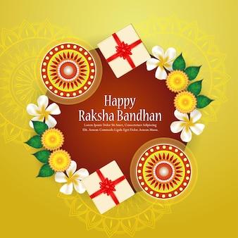 Creatieve illustratie van gelukkige rakhi