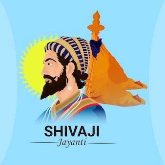 Creatieve illustratie van shivaji jayanti