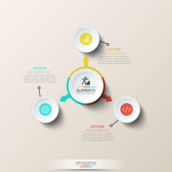 Creatieve infographic lay-out