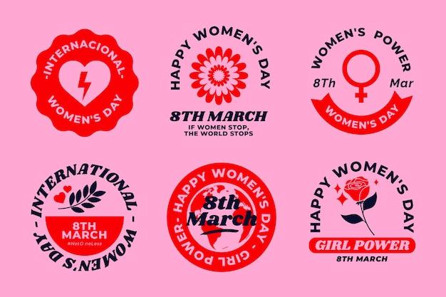 Creatieve internationale vrouwendagetiketten