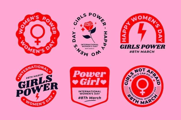 Creatieve internationale vrouwendagetikettencollectie