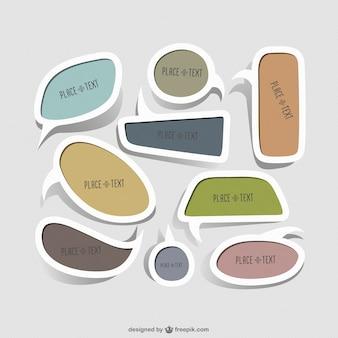 Creatieve kader stickers vectoren