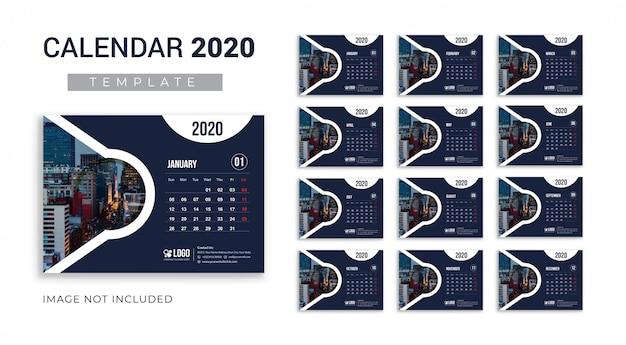 Creatieve kalender 2020-sjabloon