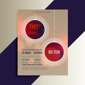 Creatieve kerst flyer sjabloonontwerp
