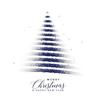 Creatieve kerstboom gemaakt met stippen deeltjes
