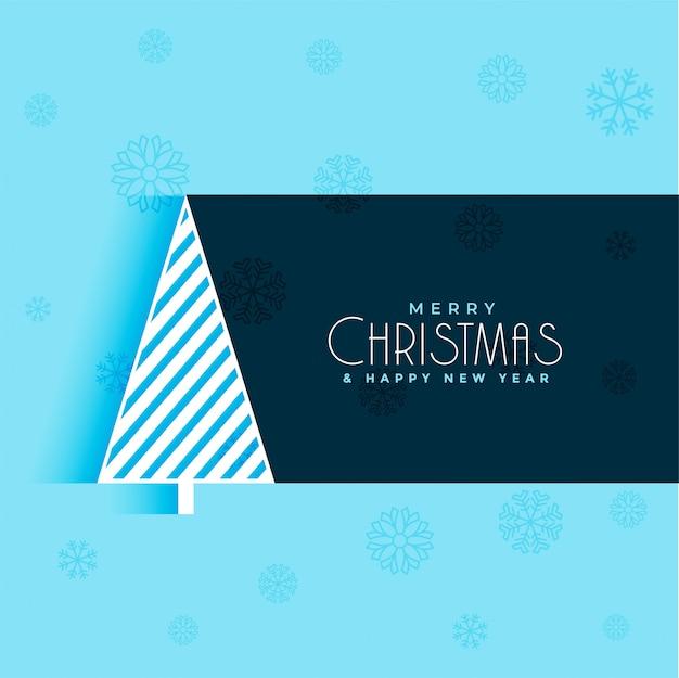 Creatieve kerstboom ontwerp blauwe achtergrond