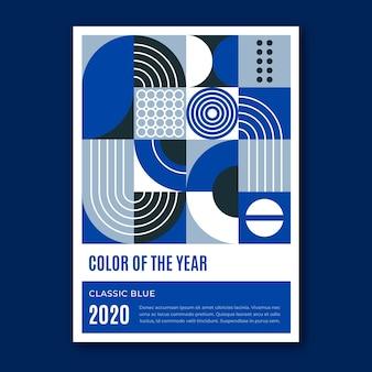 Creatieve klassieke blauwe vormen folder sjabloon