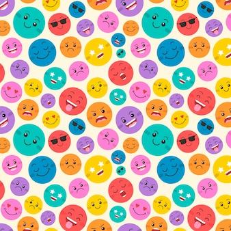 Creatieve kleurrijke glimlach emoticons patroon