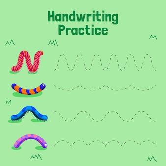 Creatieve kleurrijke handschriftpraktijk