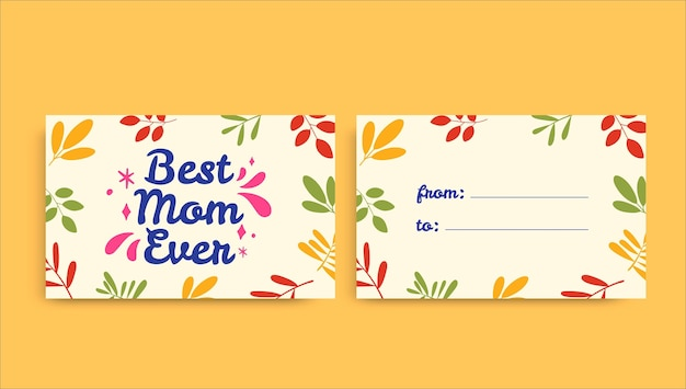 Creatieve kleurrijke moederdag cadeau-tag