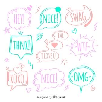 Creatieve kleurrijke tekstballonnen voor dialoog