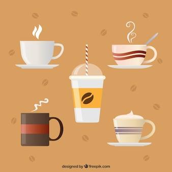 Creatieve koffiekopcollectie