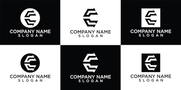 Creatieve letter c logo ontwerpsjabloon