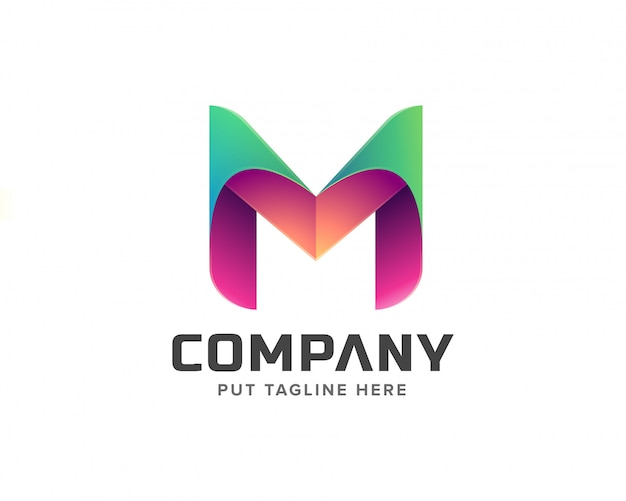 Creatieve letter m eerste logo-collectie