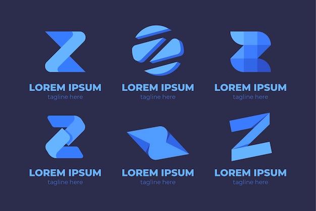 Creatieve letter z-logo sjablonen