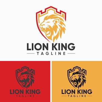 Creatieve lion-logo sjablonen