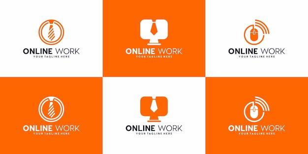 Creatieve logo collectie online werk logo ontwerp symbool