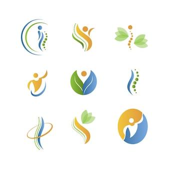 Creatieve logo-collectie voor fysiotherapie