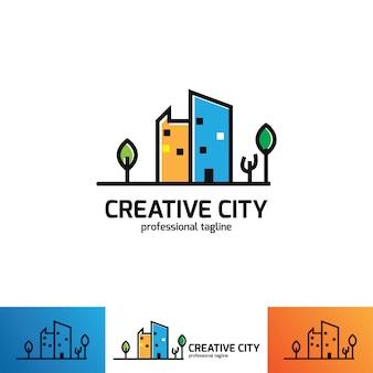 Creatieve logo ontwerpsjabloon. ontwerp met kleurrijk logo.