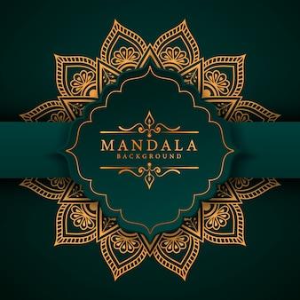 Creatieve luxe arabesque mandala achtergrond