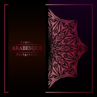 Creatieve luxe mandala achtergrond met gouden arabesque decoratie