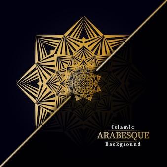 Creatieve luxe mandala achtergrond met gouden creatieve arabesque patroon arabische islamitische oost-stijl
