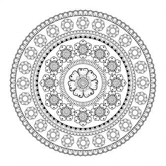 Creatieve luxe mandala achtergrond