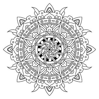 Creatieve luxe van mandala-illustratie