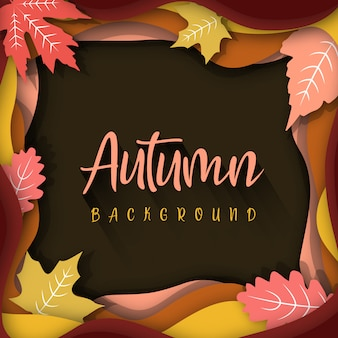 Creatieve memphis abstract herfst achtergrond