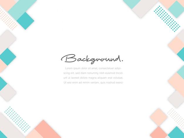 Creatieve minimale geometrische dynamische vormen op witte kopie ruimte achtergrond