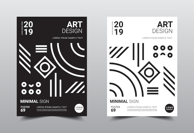 Creatieve minimale ontwerpsjabloon a4-formaat.