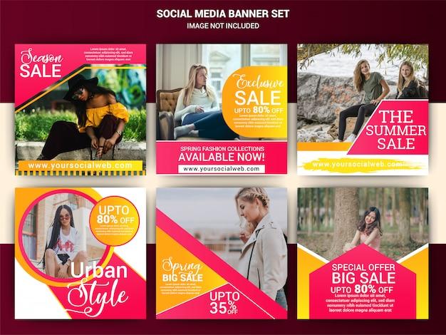 Creatieve mode sociale media berichten