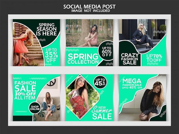 Creatieve mode sociale media berichtsjabloon