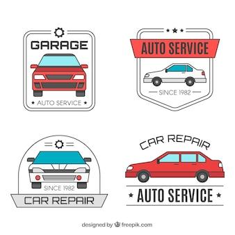 Creatieve moderne auto logo set