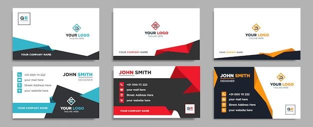 Creatieve moderne naamkaart en visitekaartjesjabloon