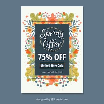 Creatieve, moderne omslagsjabloon voor voorjaarsverkopen