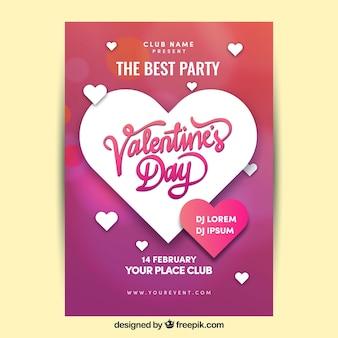 Creatieve moderne valentine poster sjabloon