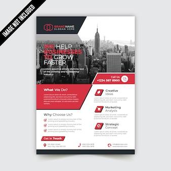 Creatieve moderne zakelijke flyer sjabloonontwerp