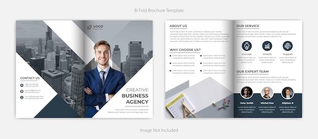 Creatieve moderne zakelijke tweevoudige brochure sjabloon