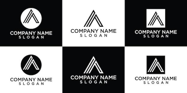 Creatieve monogram brief een logo ontwerpsjabloon