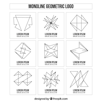 Creatieve monoline logo collectie