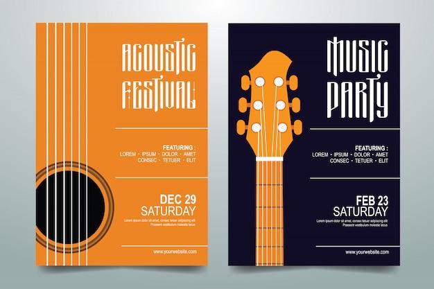 Creatieve muziekfeest festivalaffiche
