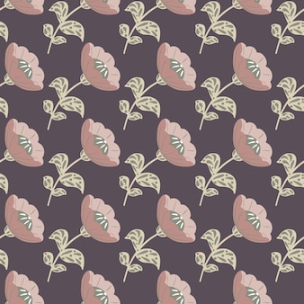 Creatieve naadloze patroon met roze bleke vintage bloemen