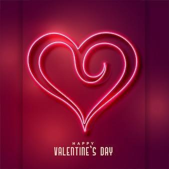 Creatieve neon hart vorm achtergrond