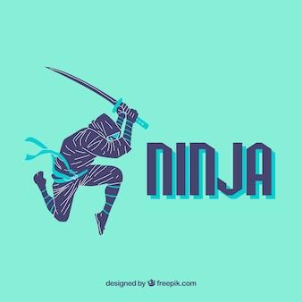 Creatieve ninja achtergrond
