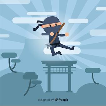 Creatieve ninja krijger achtergrond