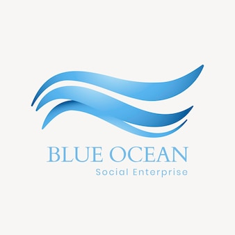 Creatieve oceaan logo sjabloon, water illustratie voor zakelijke vector